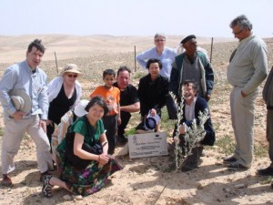 pilgrimage group at Olive Aid